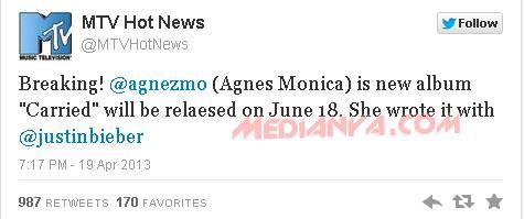 Agnes Monica Duet Justin Bieber 2013