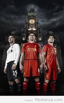 Baju Jersey Liverpool Terbaru Musim 2013-2014 Resmi Diperkenalkan
