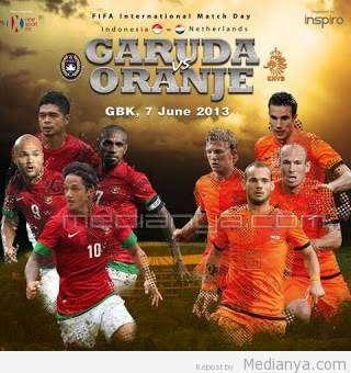 Daftar Lengkap Susunan Pemain Timnas Indonesia VS Belanda 2013