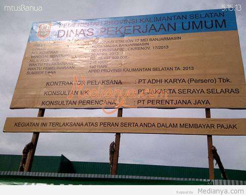 Renovasi Stadion 17 Mei Banjarmasin 2013
