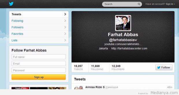Twitter Farhat Abbas Tersangka