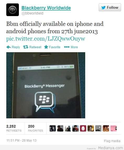 BBM Android iPhone Rilis 2013