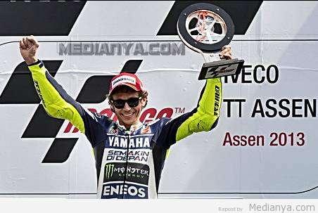 Hasil MotoGP Assen Belanda 2013, Valentino Rossi Juara Pertama