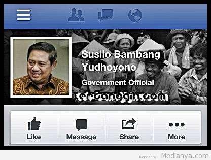 Presiden SBY Punya Akun Facebook Resmi, Inilah Status Pertamanya