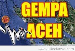 Gempa Aceh 6,2 SR, Selasa 2 Juli 2013