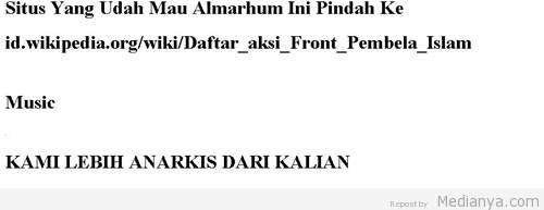 """Situs Resmi FPI Di Hack Bertuliskan """"Front Penghancur Islam"""""""