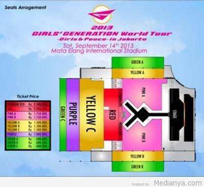 Daftar Harga Tiket Konser SNSD Di Jakarta 14 September 2013