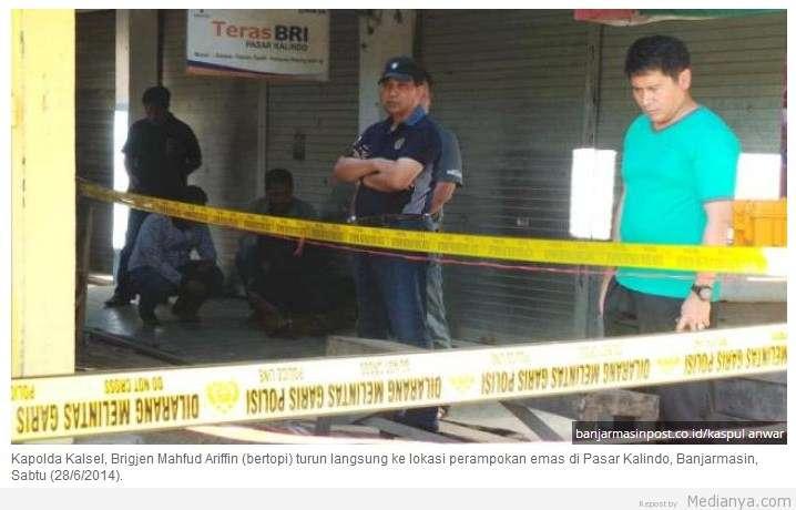Sadis ! Perampokan Toko Emas Di Pasar Kalindo Banjarmasin 28 Juni 2014
