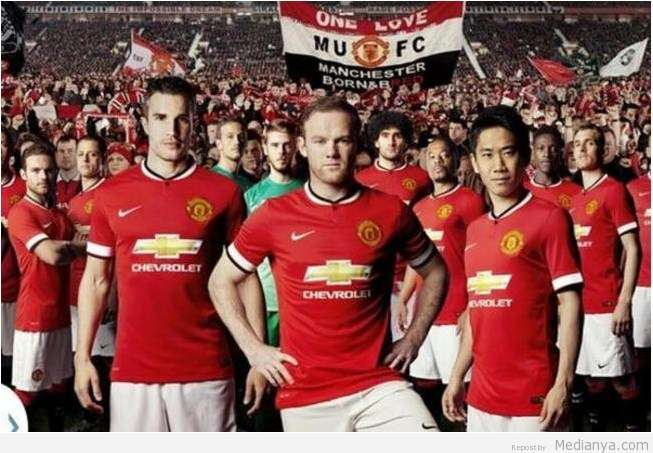 Jersey Baru Manchester United 2014 / 2015 Berlogo Chevrolet Resmi Dirilis