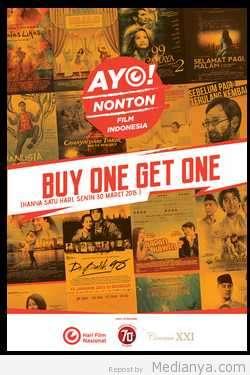 Hari Film Nasional 2015 XXI Free Tiket