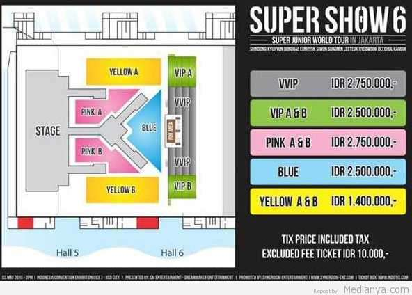 Harga Tiket Konser Suju Indonesia 3 Mei 2015 MAHAL !!!