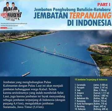 Jembatan Batulicin Kotabaru 6,4 KM Terpanjang Di Indonesia