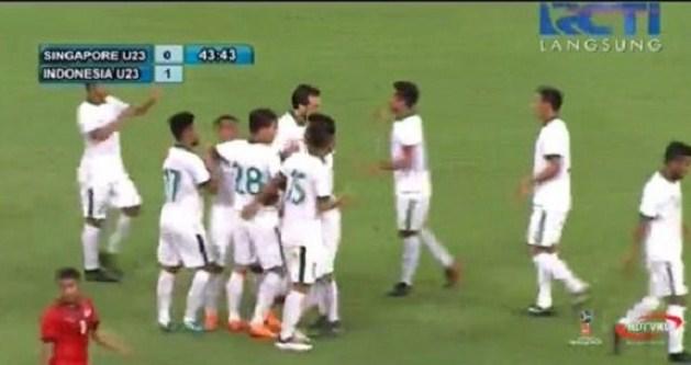 Skor Sementara Timnas U-23 Singapura Vs Indonesia 21 Maret 2018